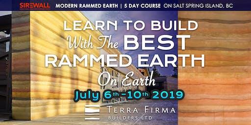 SIREWALL | 5-day modern rammed earth building course, Salt Spring Island, BC, Canada