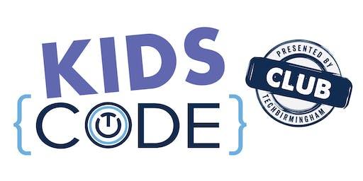 Kids Code Sunday September 8, 2019