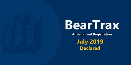 July 2019 BearTrax Orientation (Declared) tickets