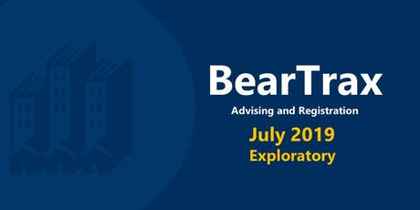 July 2019 BearTrax Orientation (Exploratory) tickets