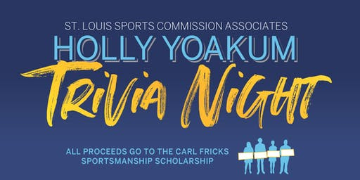 St. Louis Sports Commission Associates Holly Yoakum Trivia Night
