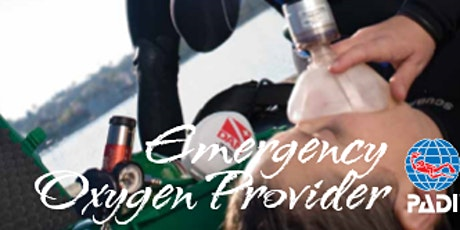 PADI Emergency Oxygen Provider Speciality Course & Refresher tickets