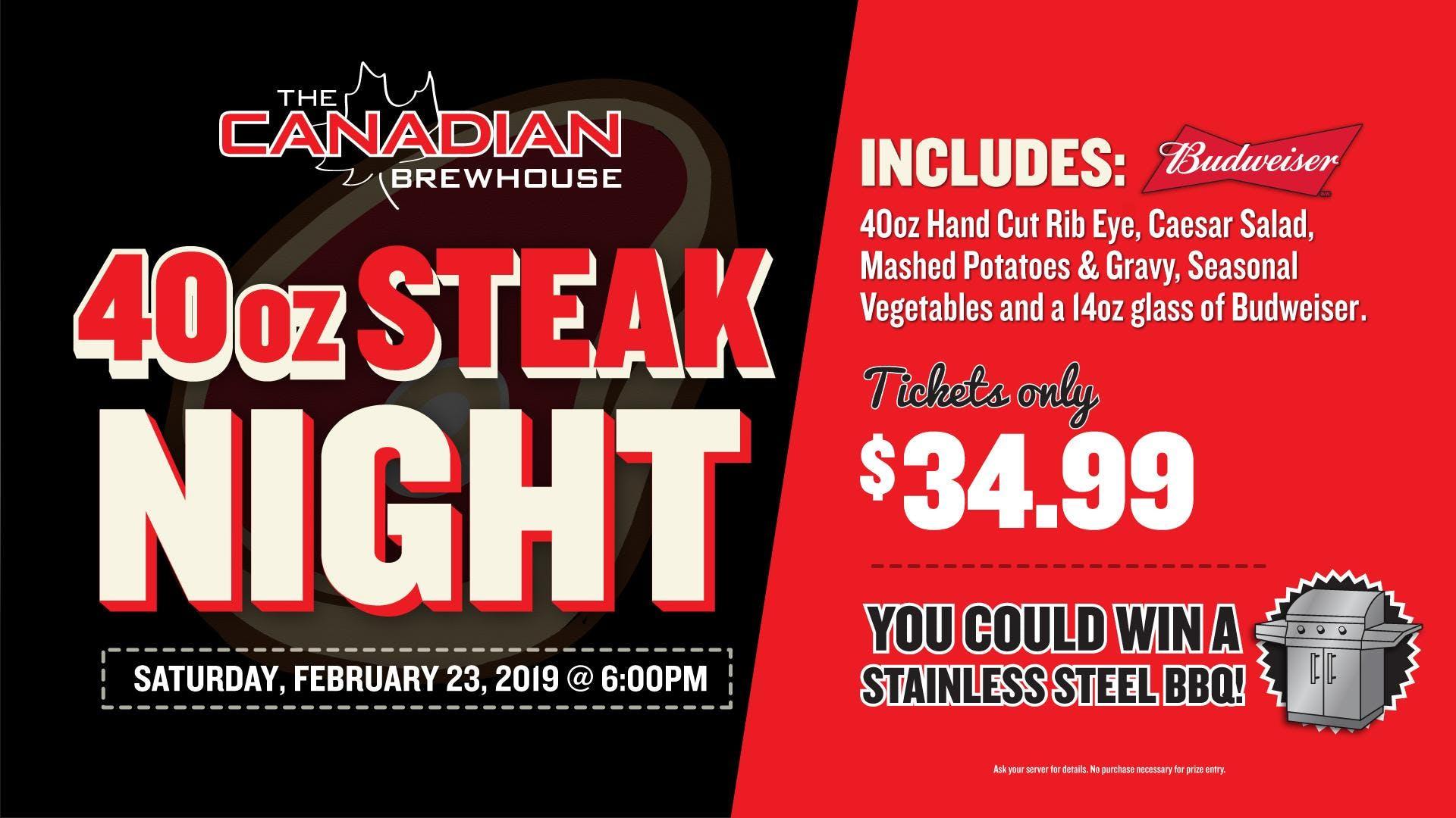 40oz Steak Night (St. Albert Jensen Lakes)