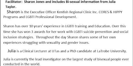 Working Effectively with LGBTI People tickets