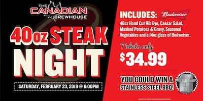 40oz Steak Night (Camrose)