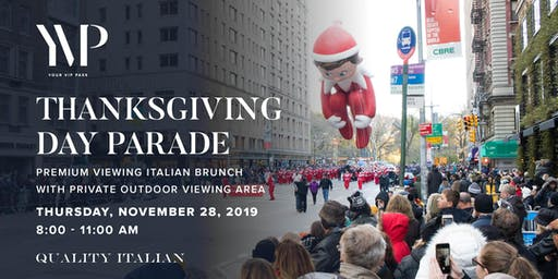 Macy's Thanksgiving Day Parade Premium Viewing Brunch With Private Outdoor Area at Quality Italian