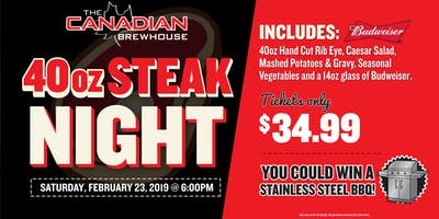40oz Steak Night (Winnipeg)