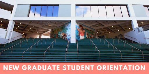 2019 New Graduate Student Orientation