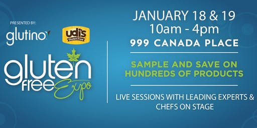 Canada's Largest Gluten Free Event Visits Vancouver, January 18-19, 2020!