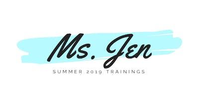 Ms. Jen's Summer 2019 Trauma-Sensitive Schools Trainings
