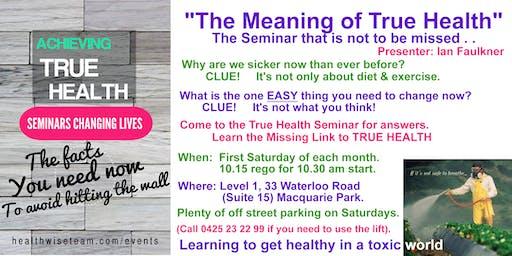HealthWise Seminar in Sydney