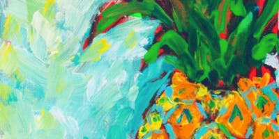 Funky Pineapple Painting - Art Class