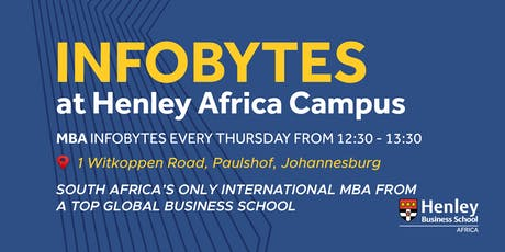 THE International MBA - InfoBytes | #HenleyAfrica tickets