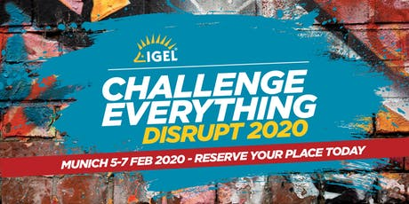 IGEL DISRUPT 2020 Tickets