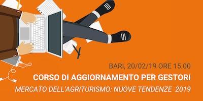 Corso di aggiornamento per gestori di agriturismi | Agriturismo.it | Bari, 20/02 ore 15