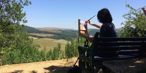 Plein Air Painting at Tegg's Nose Country Park with Northern Realist
