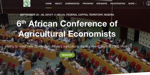 6th African Conference of Agricultural Economists