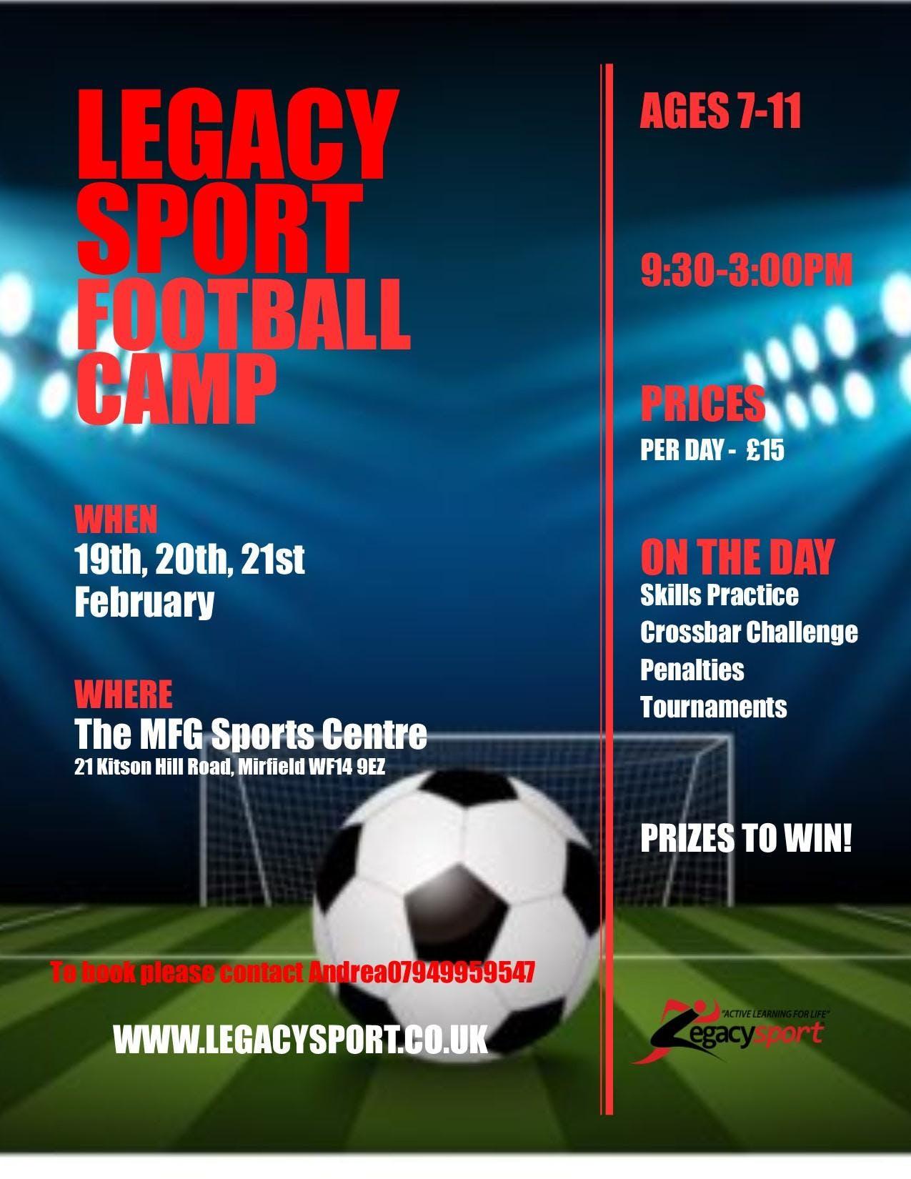 Legacy Sport Football Camp