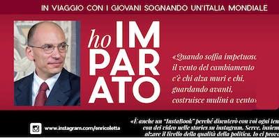 Enrico Letta presenta il suo nuovo Libro  ''HO IMPARATO''