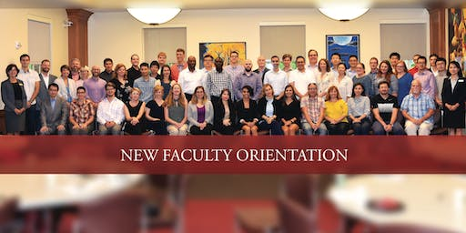 2019 New Faculty Orientation