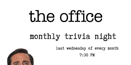 - ON HIATUS- The Office Trivia Night tickets