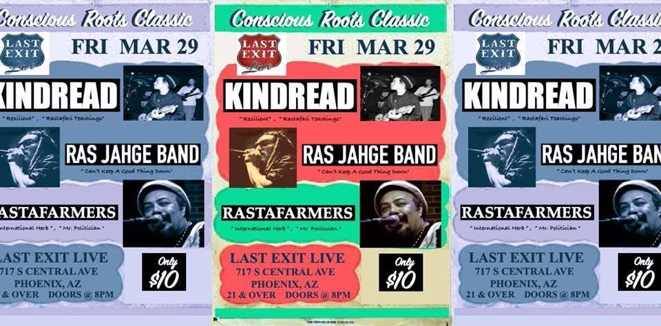 Conscious Roots Classic w/ KINDREAD + RAS JAHGE BAND + RASTAFARMERS