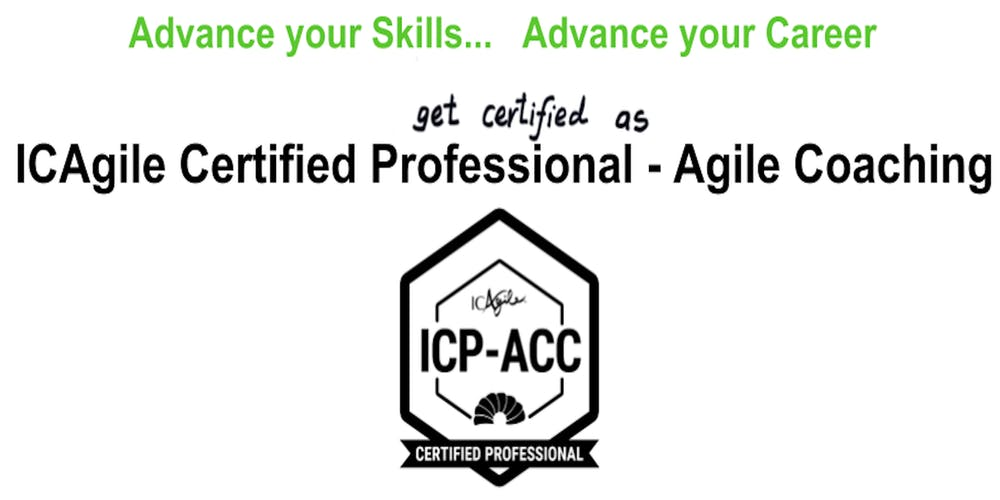 Icagile Certified Professional Agile Coaching Icp Acc Workshop