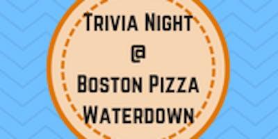 Boston Pizza Trivia Night - Waterdown