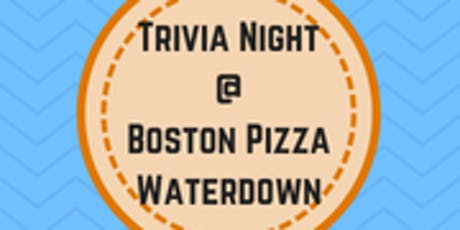 Boston Pizza Trivia Night - Waterdown tickets