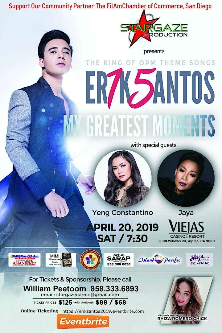 Erik Santos, `My Greatest Moments Concert with Yeng Constantino & Jaya image