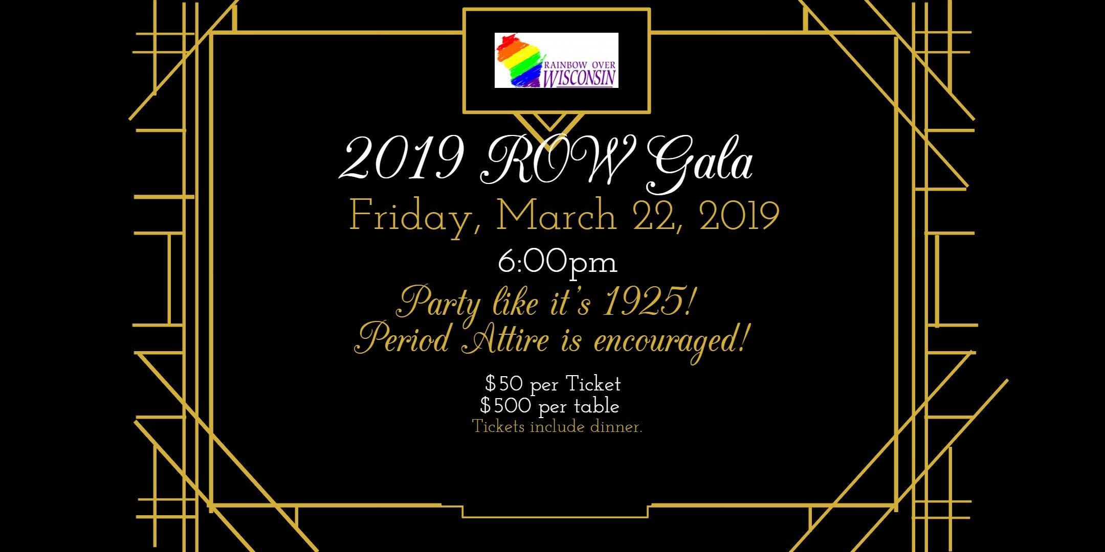 2019 Rainbow Over Wisconsin Annual Gala