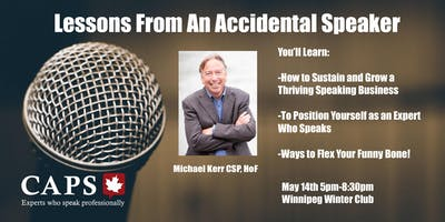 Lessons From An Accidental Speaker