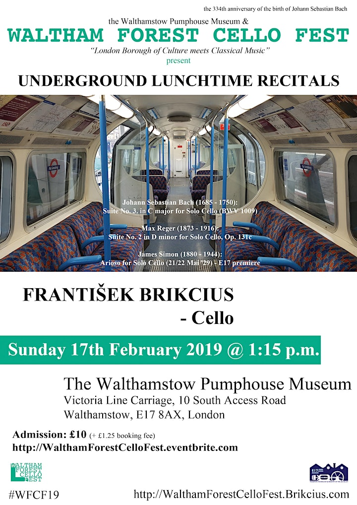 Waltham Forest Cello Fest 2019 - the 1st Underground Lunchtime Recital image