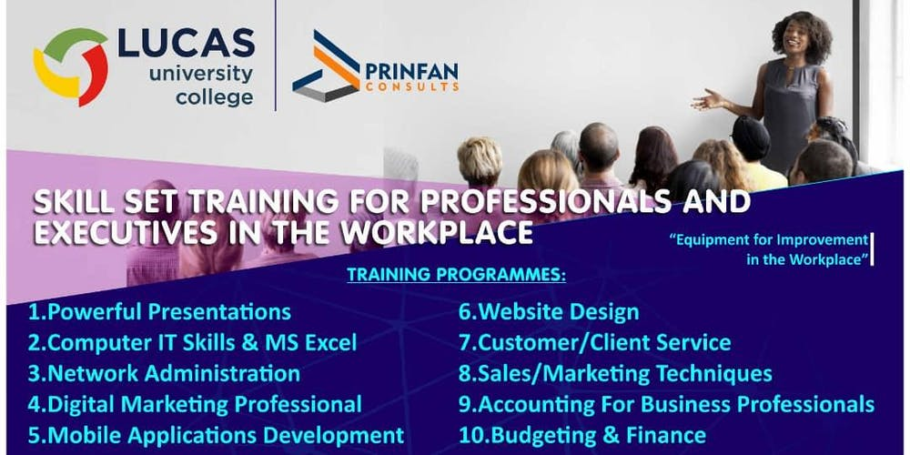 Skill Set Training For Professionals And Executives The Workplace Tickets Wed Jan 30 2019 At 900 AM