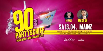 "90er Partyboot mit Mark Oh ""LIVE\"" DJ Set - Mainz"