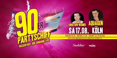 "90er Partyboot mit AQUAGEN ""LIVE"" DJ Set - Köln"