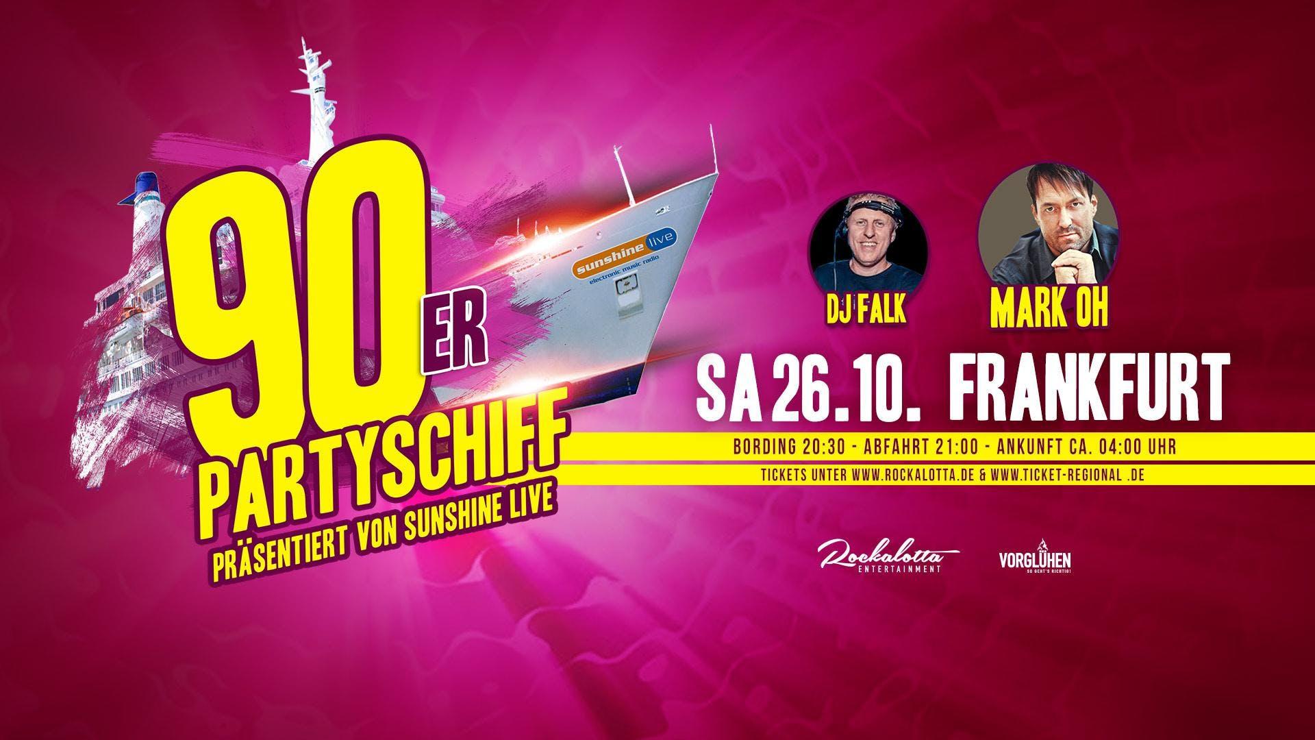 90er Partyboot mit Mark Oh LIVE DJ Set - Frankfurt