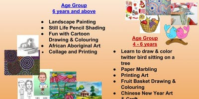 Half Term Art Session (Aged 4-6 Fruit Basket drawing & Colouring)