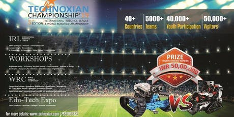 TECHNOXIAN (WORLD ROBOTICS CHAMPIONSHIP) tickets