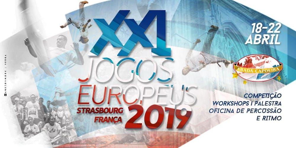 Flyer Jogos Europeus Abada Capoeira 2019 in Straßburg