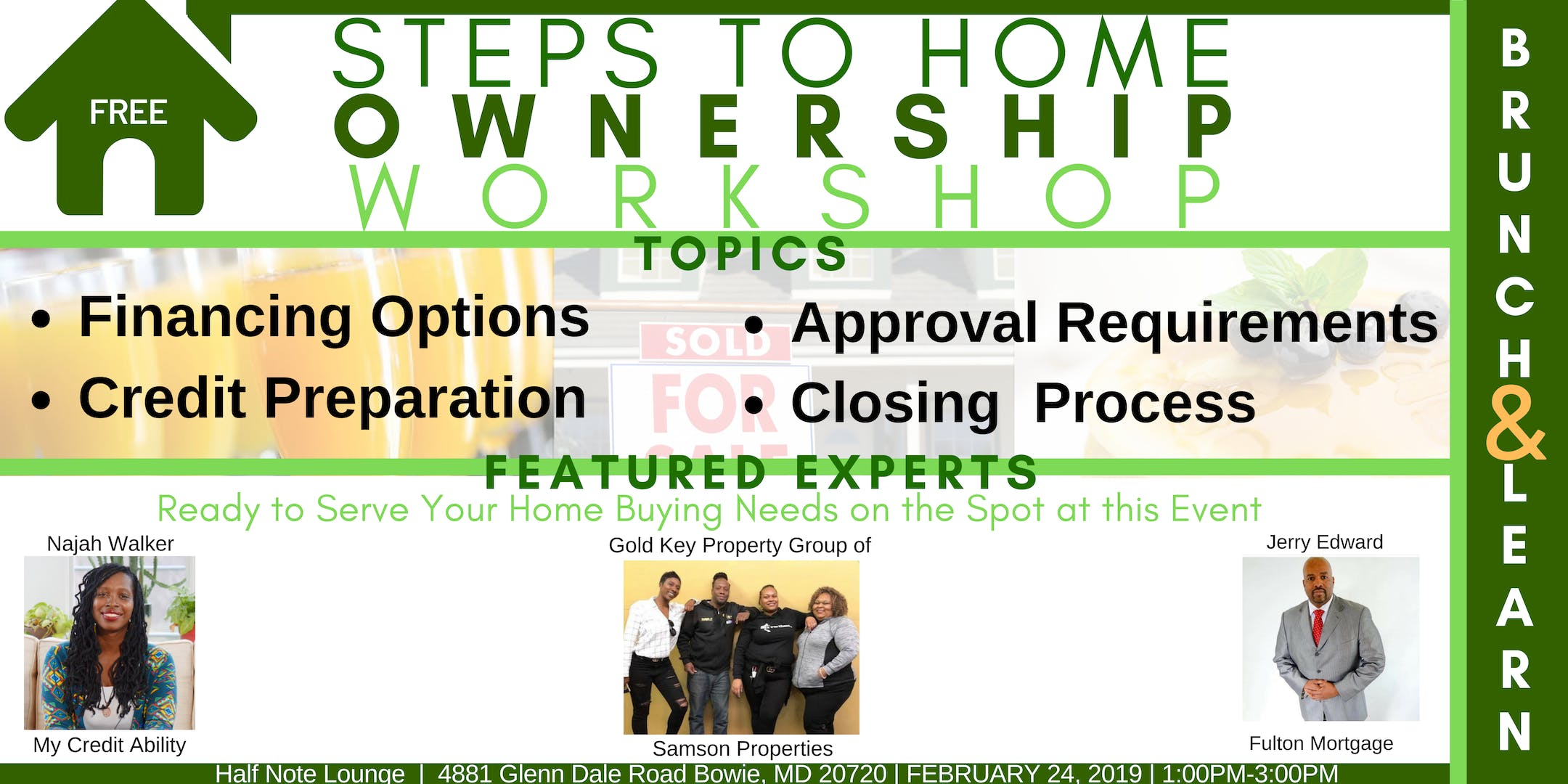 Free Maryland Homesers 101 Brunch Learn