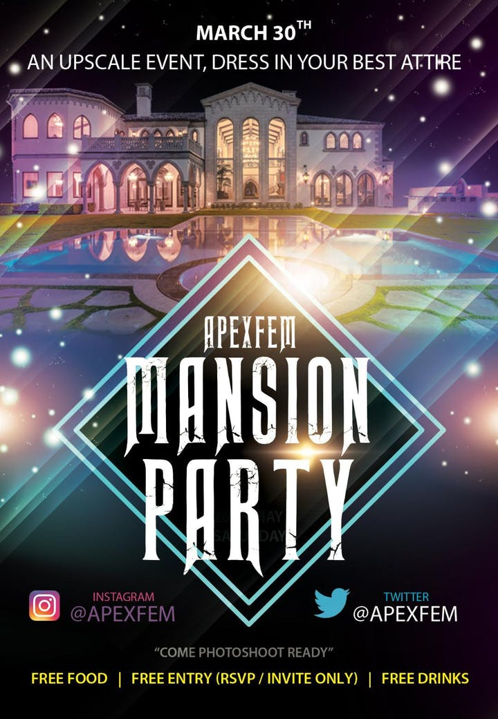 APEXFEM MANSION PARTY Tickets Sat Mar 30 2019 At 900 PM