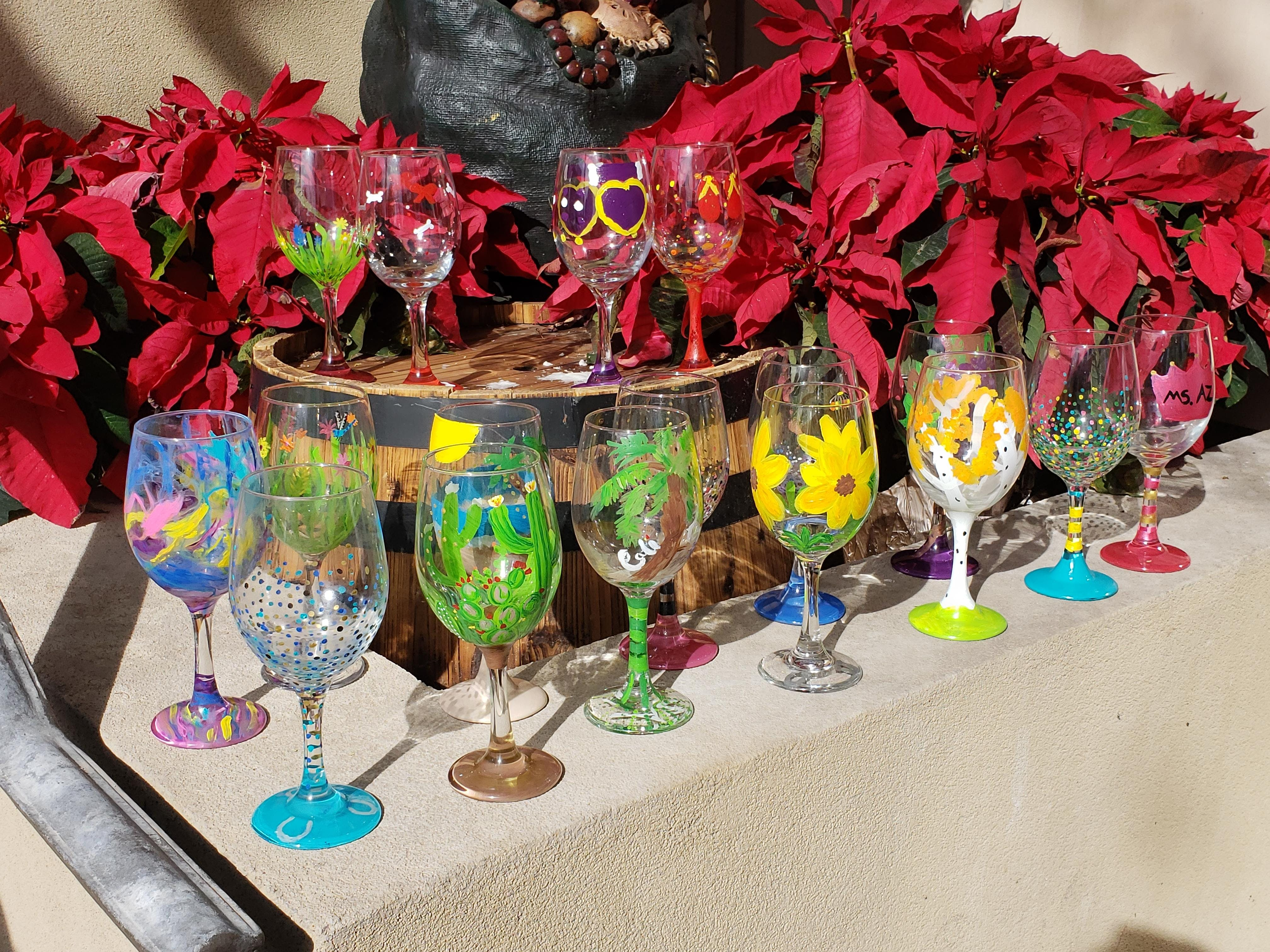 Paint a Glass and Relax at Fuchsia Spa Ahwatukee