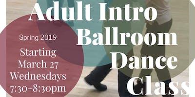 Adult Intro Ballroom Dance Classes