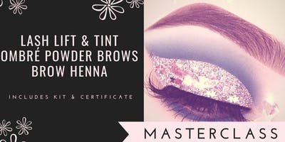 MASTERCLASS CERTIFICATION IN OMBRE & HENNA BROWS + LASH LIFT & TINT - BRAMPTON