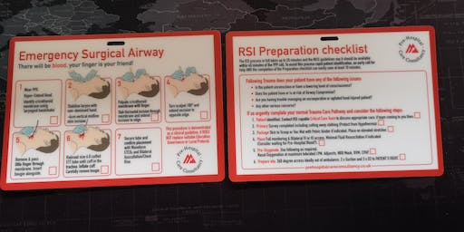 PHCC EMERGENCY SURGICAL AIRWAY AND RSI PREPARATION CARD
