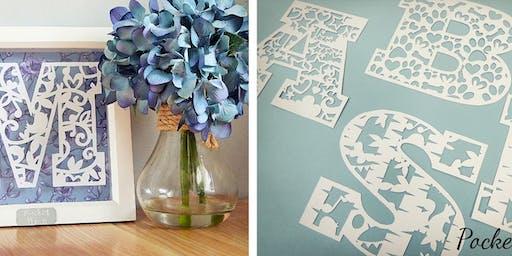 Paper Cut Personalised Monogram Frame