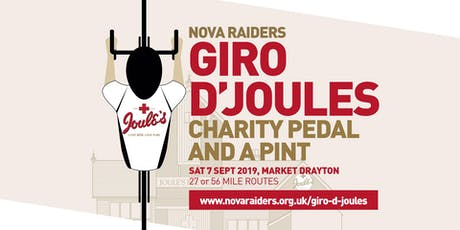 Nova Raiders Giro d'Joules 2019 - Charity pedal and a pint tickets