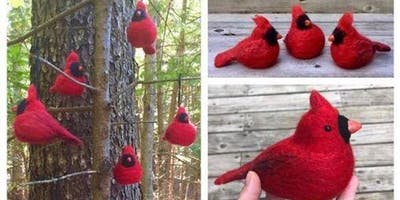 Needle Felted Cardinal