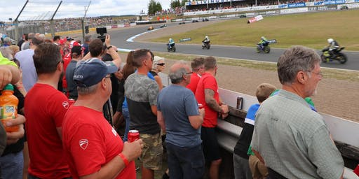 VIP Ducati Hospitality at British Superbike Championship at Knockhill